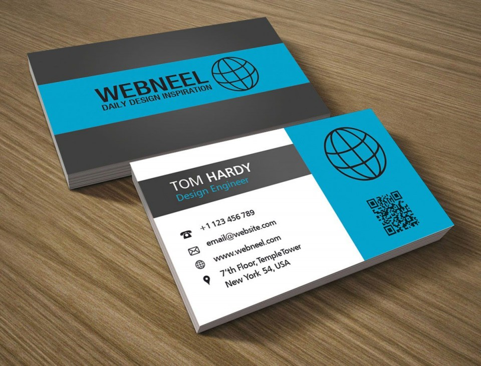 002 Frightening Simple Visiting Card Design Free Download Highest Quality  Busines Psd File960