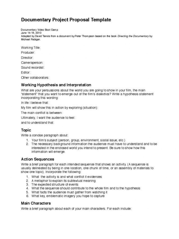 002 Frightening Statement Of Work Template Video Production High Definition 728