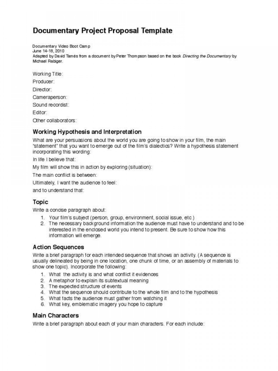 002 Frightening Statement Of Work Template Video Production High Definition 960
