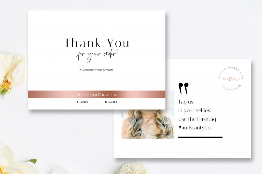 002 Frightening Wedding Thank You Card Template Psd Design  FreeLarge
