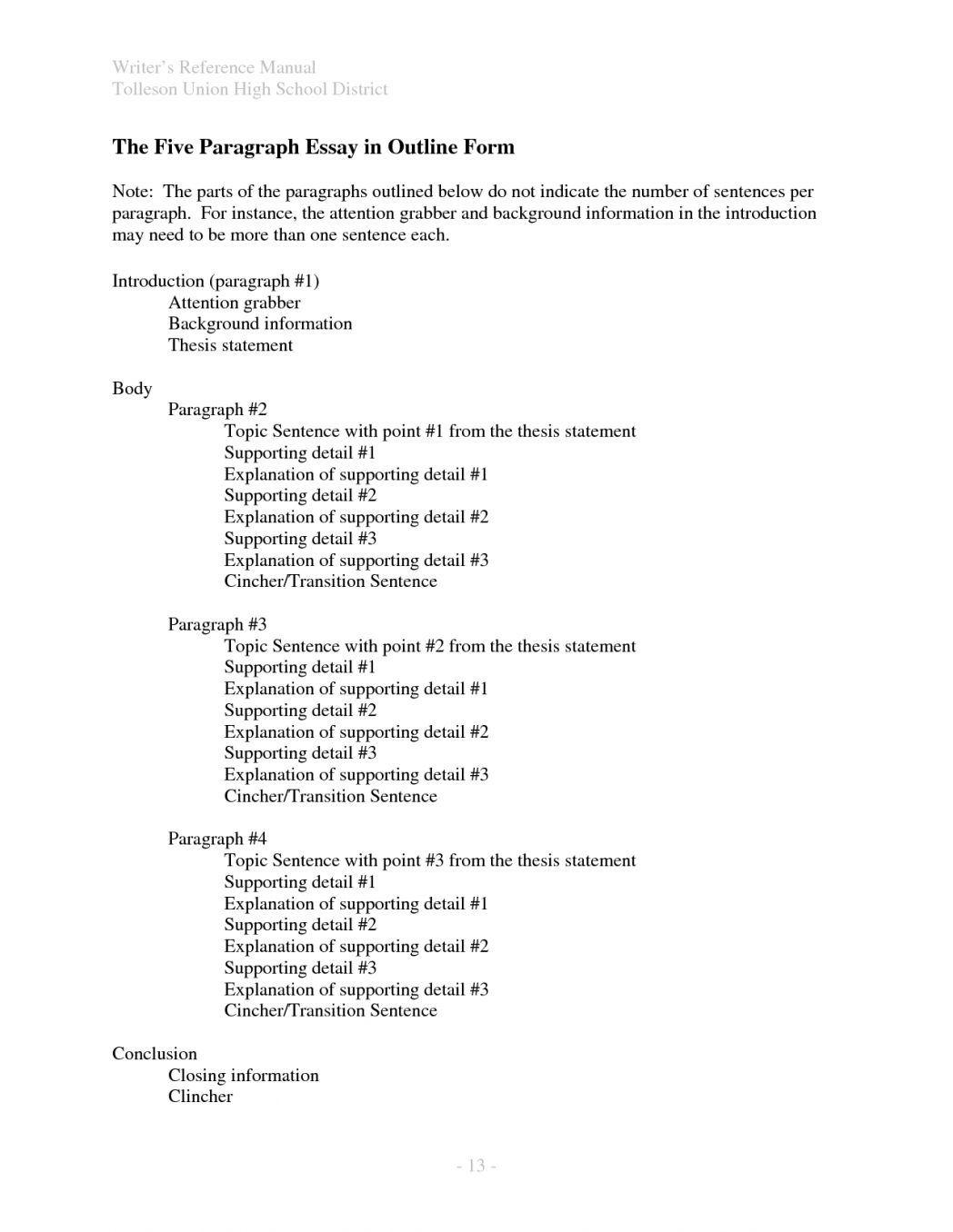 002 Imposing Argumentative Essay Outline Template Highest Clarity  Mla Format Doc Middle SchoolFull
