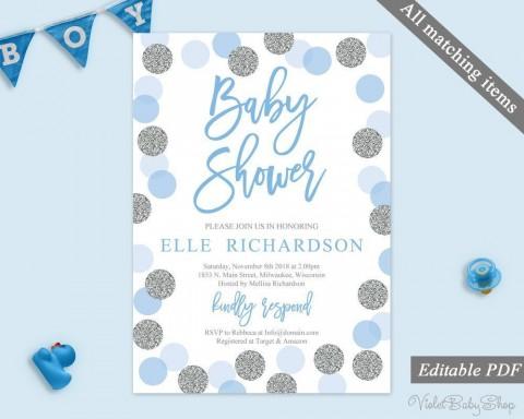 002 Imposing Baby Shower Invitation Template Microsoft Word Sample  Free Editable480