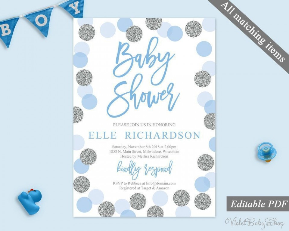 002 Imposing Baby Shower Invitation Template Microsoft Word Sample  Free Editable960