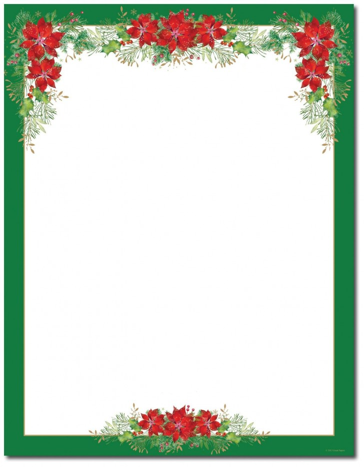 002 Imposing Christma Stationery Template Word Free Design  Religiou For Downloadable728
