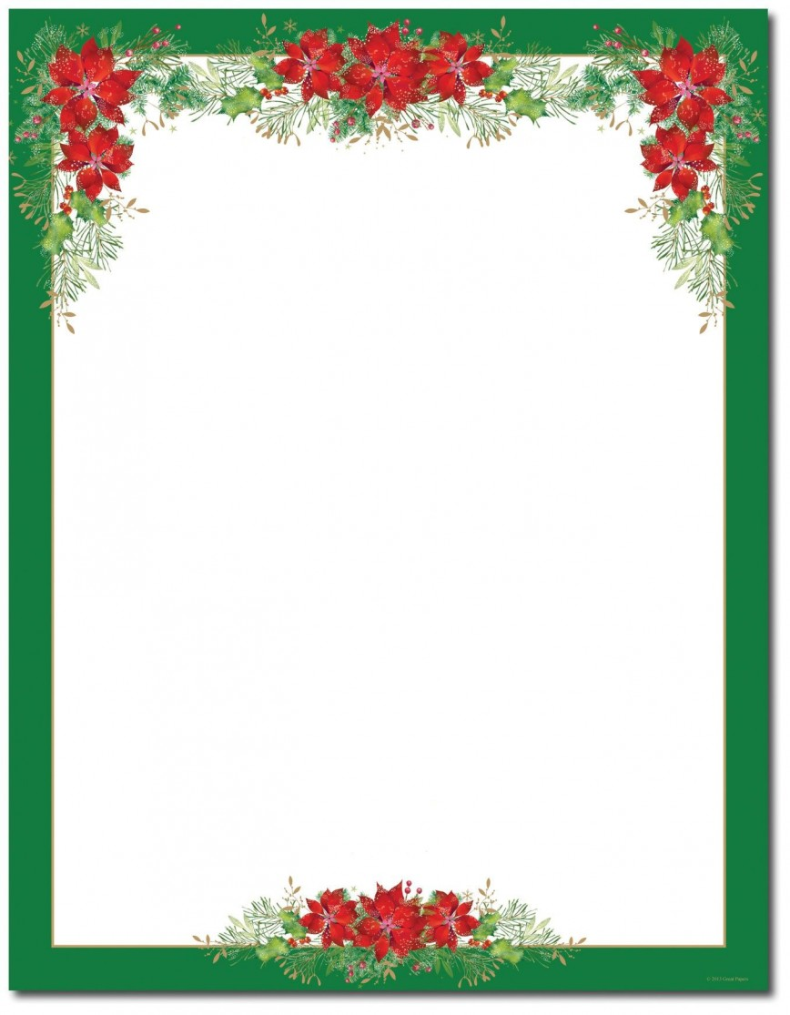 002 Imposing Christma Stationery Template Word Free Design  Religiou For Downloadable868