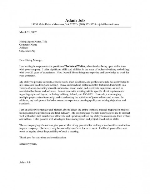 002 Imposing Cover Letter Writing Sample Photo  Example For Content Job Resume480