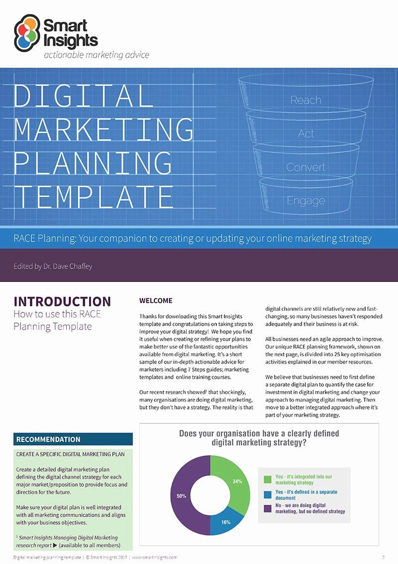 002 Imposing Digital Marketing Busines Plan Example Picture  Template Free Sample PdfFull