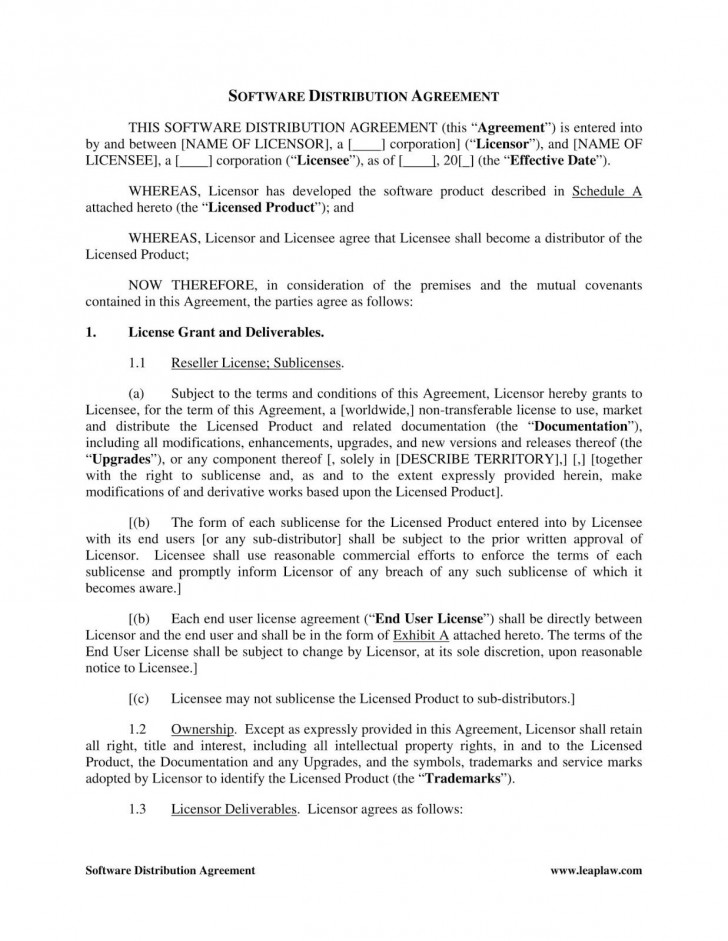 002 Imposing Exclusive Distribution Agreement Template Word Inspiration  Format728