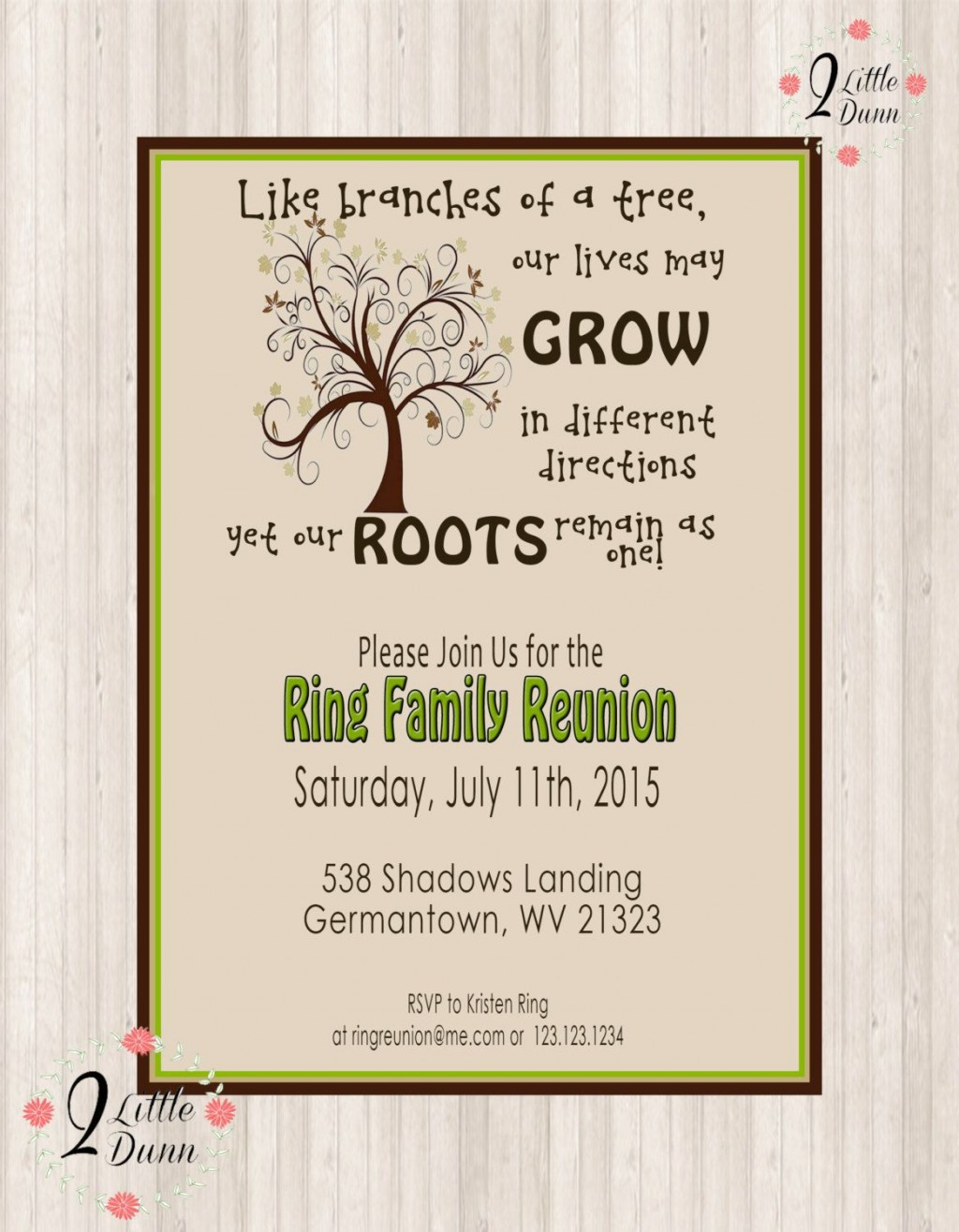 002 Imposing Family Reunion Invitation Template Free Highest Clarity  For Word OnlineLarge