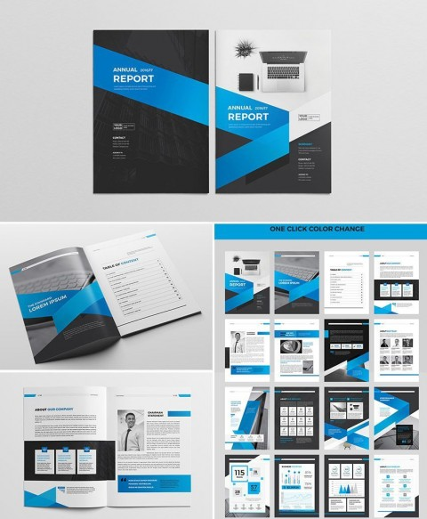 002 Imposing Free Annual Report Template Indesign Example  Adobe Non Profit480