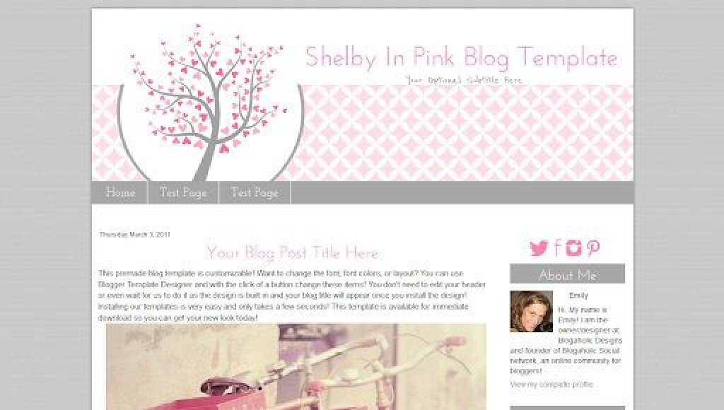 002 Imposing Free Cute Blogger Template Highest Clarity  TemplatesLarge