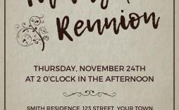 002 Imposing Free Printable Family Reunion Invitation Template Photo  Templates Flyer