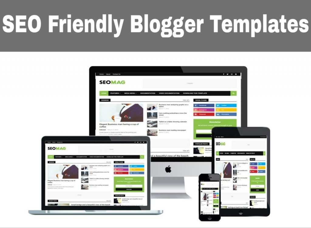 002 Imposing Free Responsive Seo Friendly Blogger Template Picture Large
