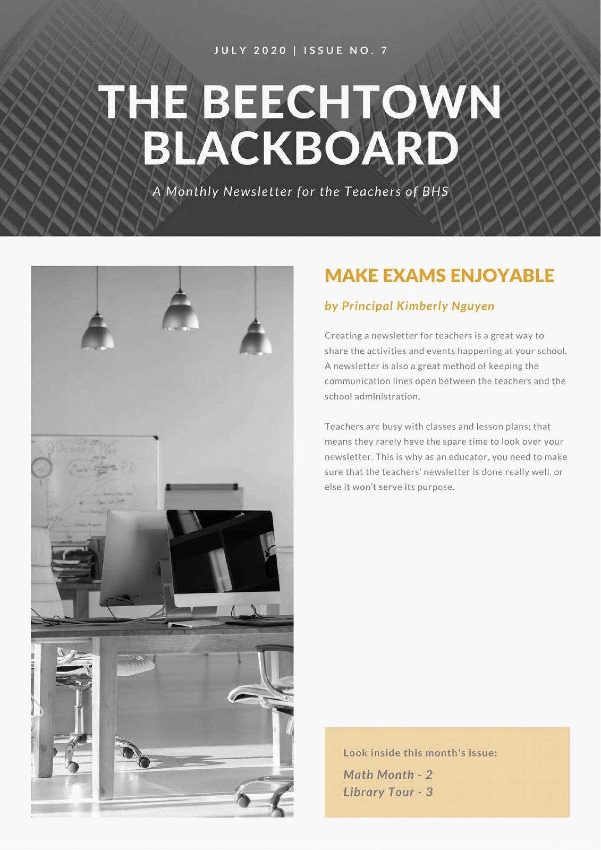 002 Imposing Newsletter Template For Teacher High Resolution  Teachers To Parent Free Printable Digital1920