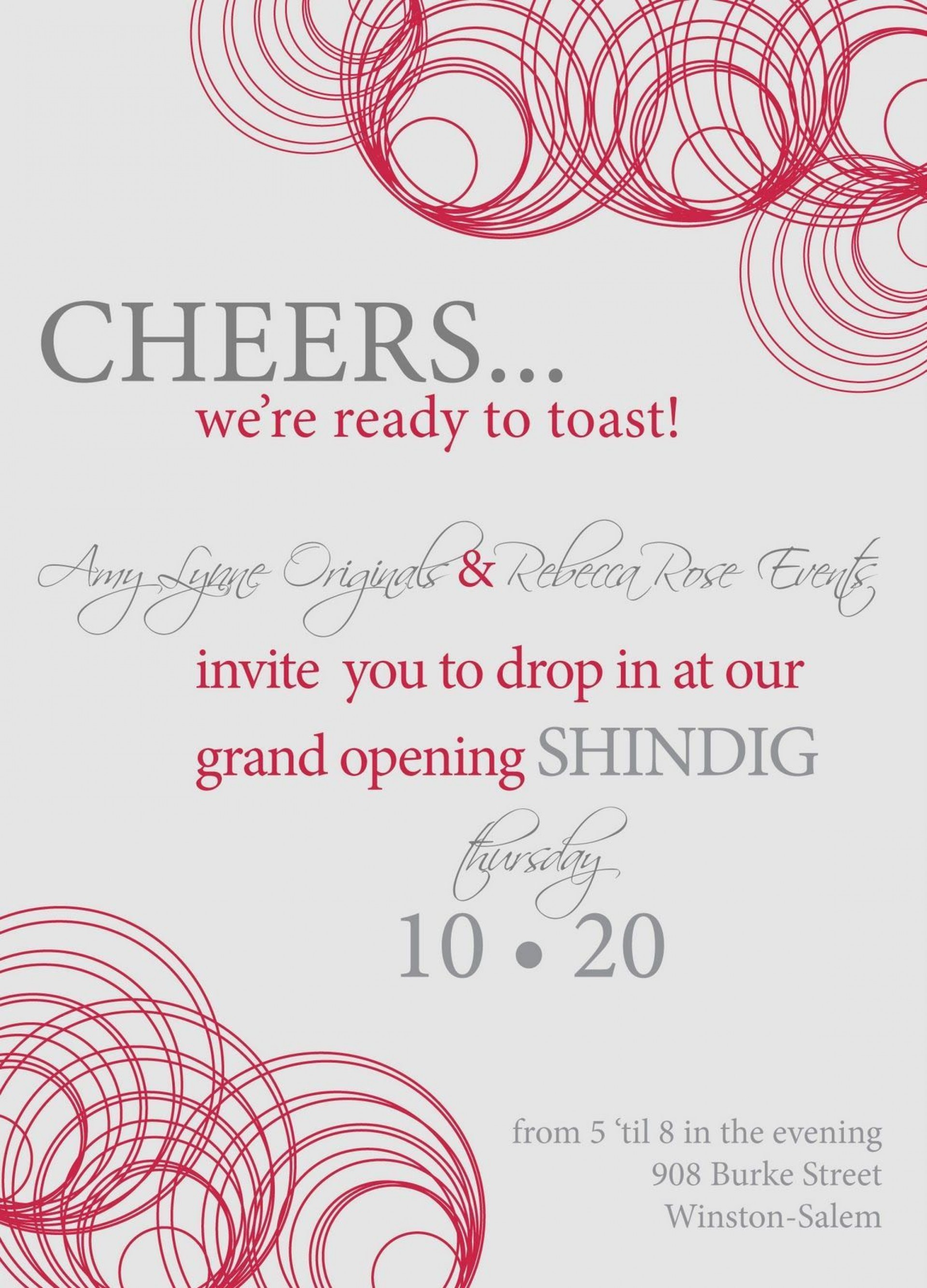 002 Imposing Open House Invitation Template Sample  Templates Free Printable Busines1920