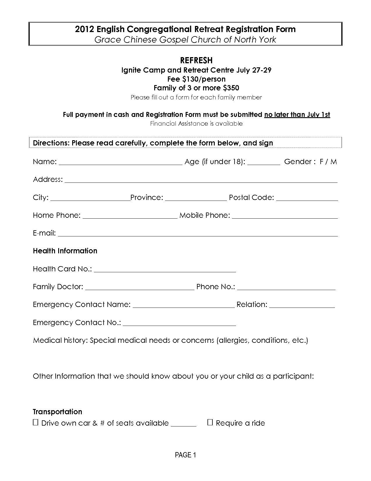 002 Imposing Registration Form Template Free Concept  Printable Event SampleFull