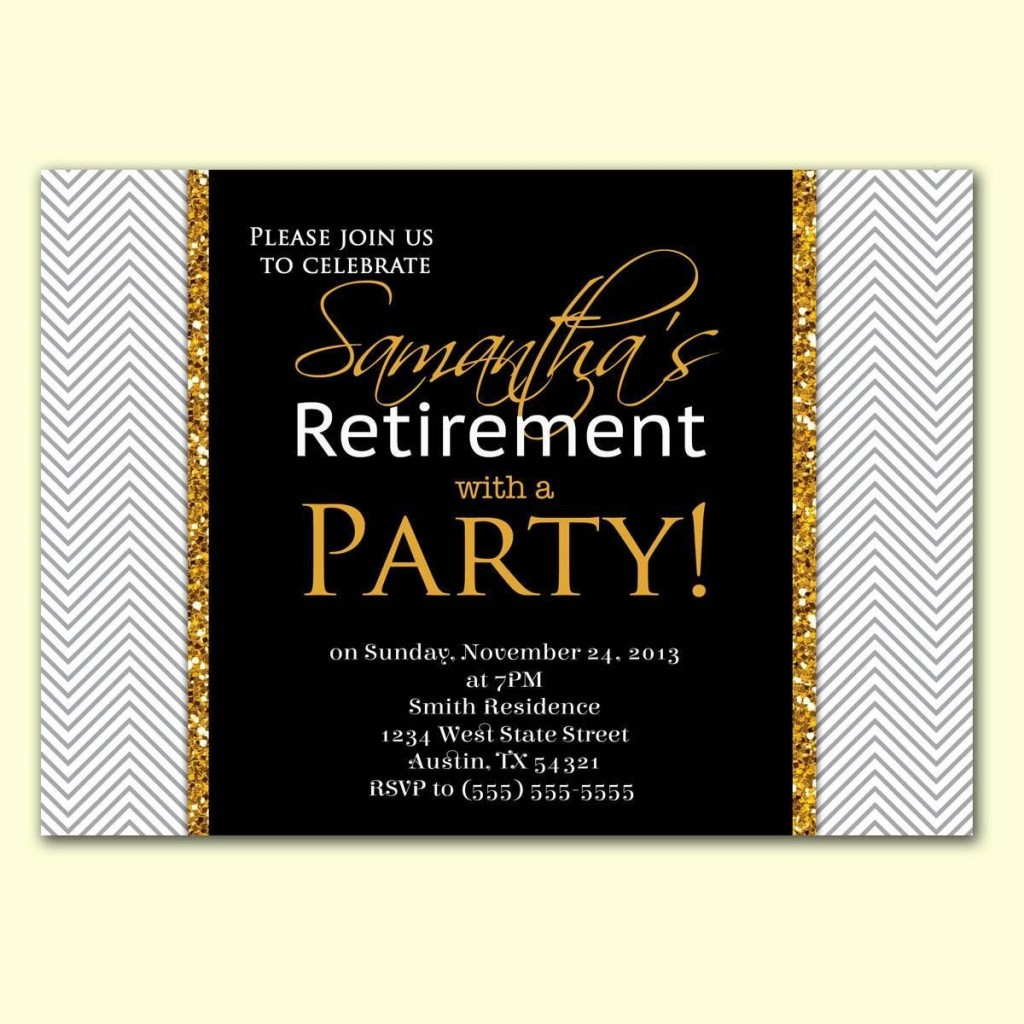002 Imposing Retirement Party Invite Template Word Free Highest Quality Large