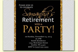002 Imposing Retirement Party Invite Template Word Free Highest Quality