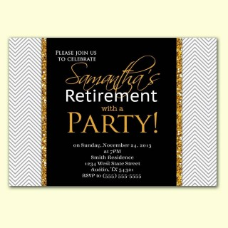 002 Imposing Retirement Party Invite Template Word Free Highest Quality 320