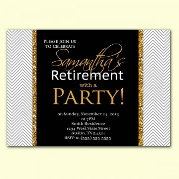 002 Imposing Retirement Party Invite Template Word Free Highest Quality 360