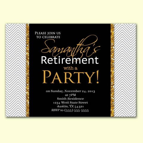 002 Imposing Retirement Party Invite Template Word Free Highest Quality 480