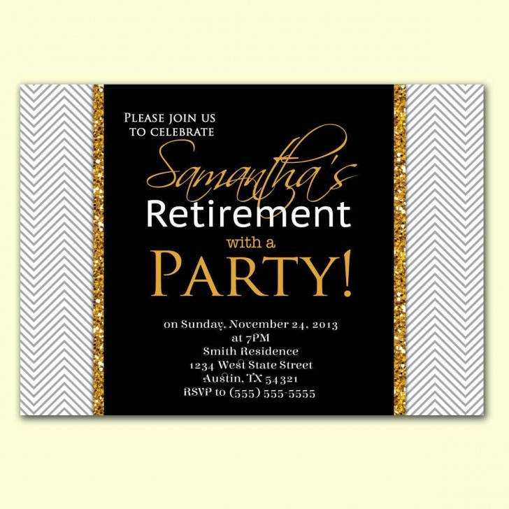 002 Imposing Retirement Party Invite Template Word Free Highest Quality 728