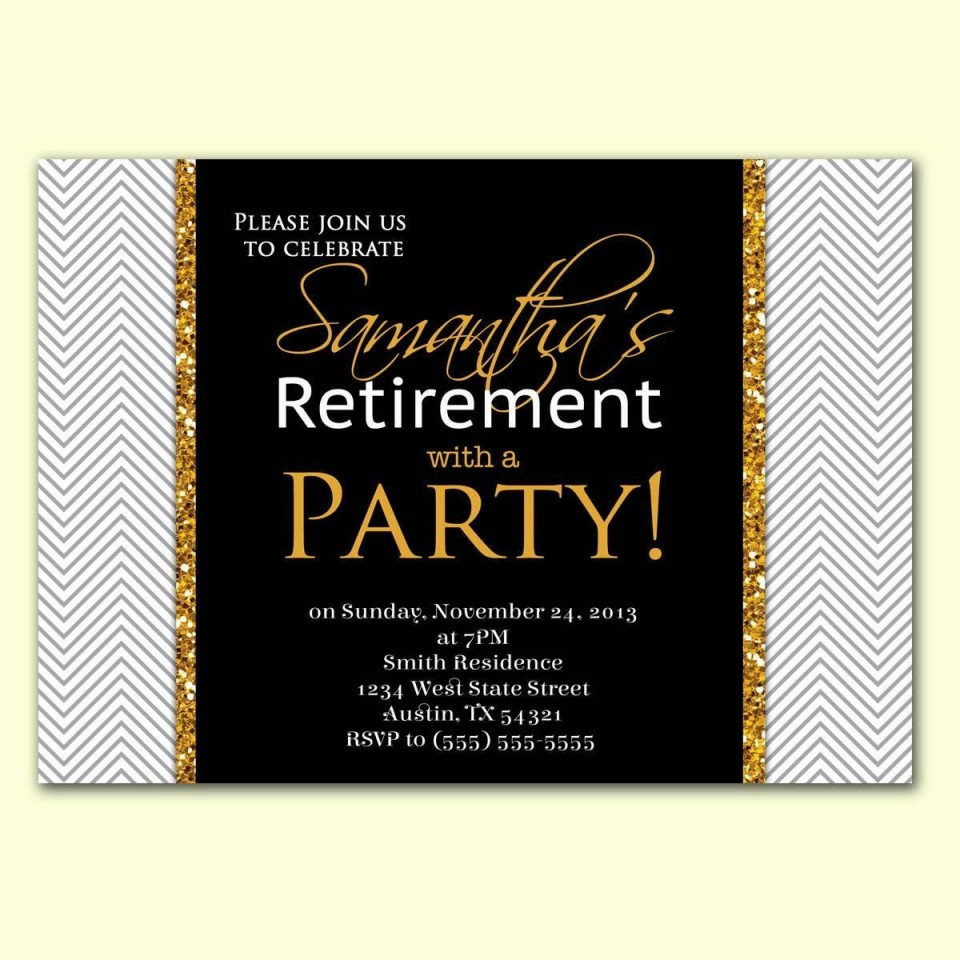 002 Imposing Retirement Party Invite Template Word Free Highest Quality 960