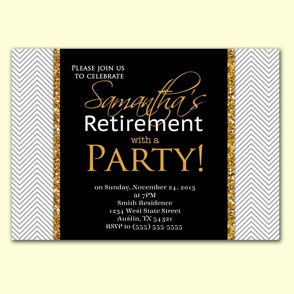 002 Imposing Retirement Party Invite Template Word Free Highest Quality Full