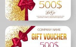 002 Imposing Template For Gift Certificate High Resolution  Voucher Word Free Printable In