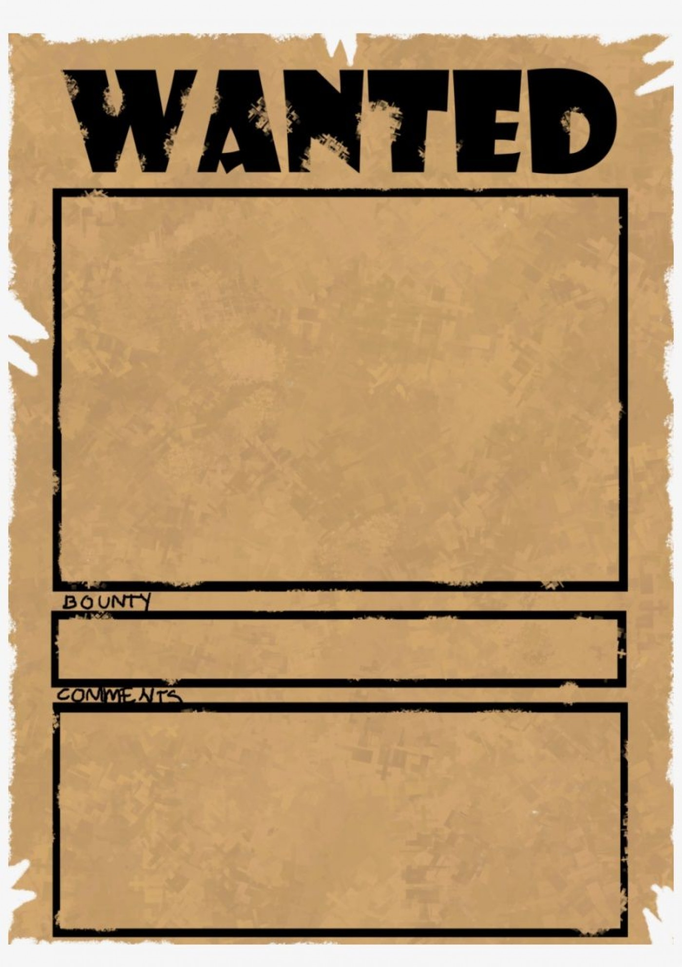 002 Imposing Wanted Poster Template Microsoft Word High Resolution  Western Most1400