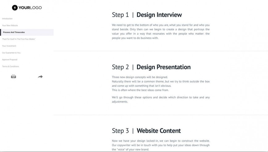 002 Imposing Website Design Proposal Template Highest Quality  Web Pdf Redesign868