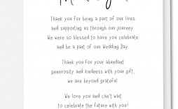 002 Imposing Wedding Thank You Note Template Picture  Shower Gift Present Bridal Sample
