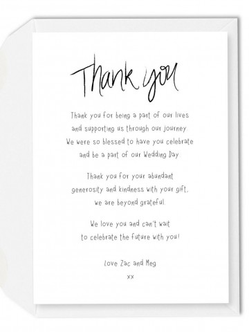 002 Imposing Wedding Thank You Note Template Picture  Example Wording Sample For Money Gift Shower360