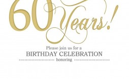 002 Impressive 60th Birthday Invitation Template High Def  Card Free Download