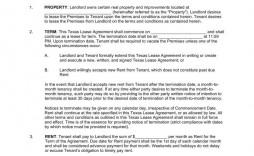 002 Impressive Apartment Lease Agreement Form Texa Concept  Texas