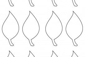 002 Impressive Blank Leaf Template With Line Image  Printable