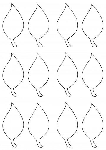 002 Impressive Blank Leaf Template With Line Image  Printable360