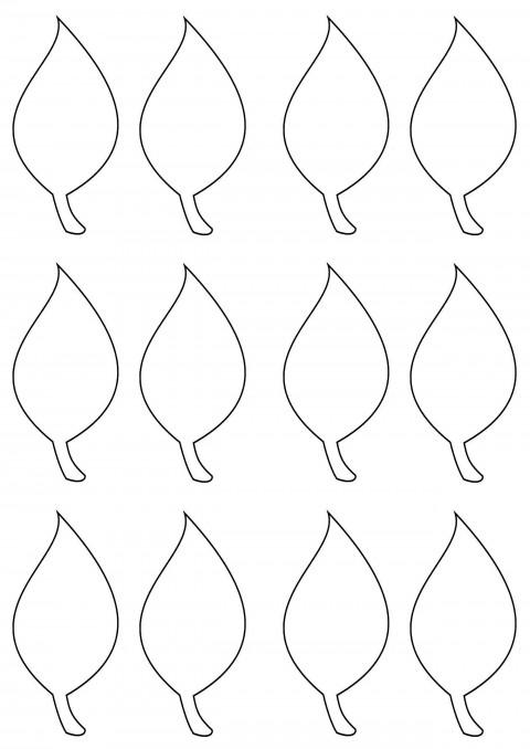 002 Impressive Blank Leaf Template With Line Image  Printable480