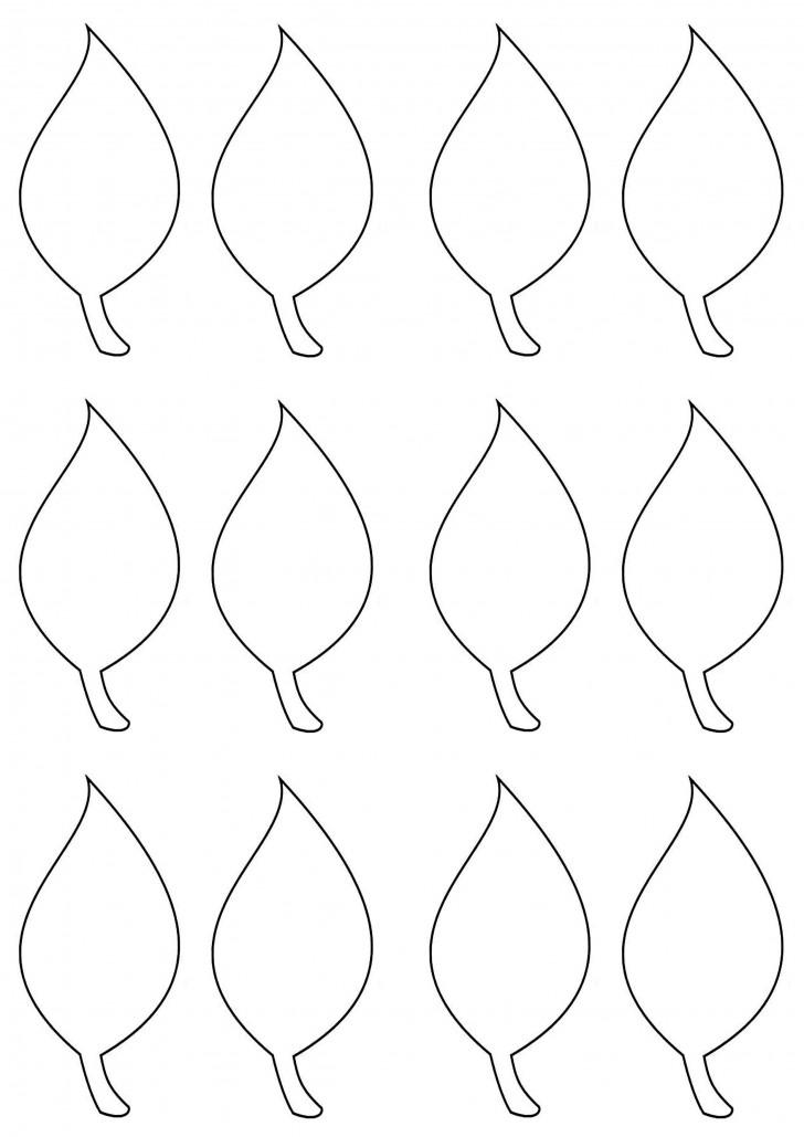 002 Impressive Blank Leaf Template With Line Image  Printable728