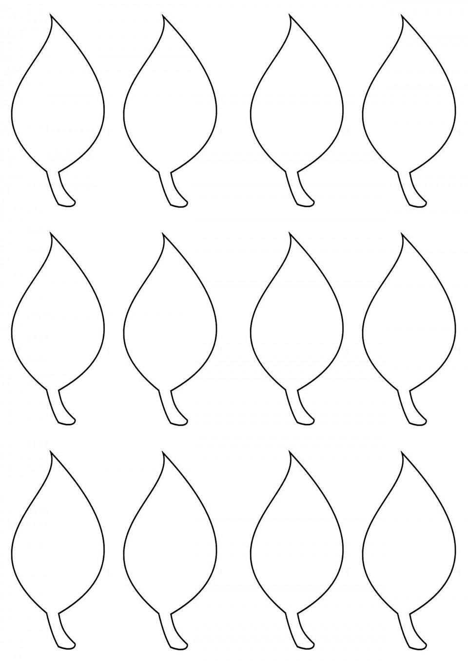 002 Impressive Blank Leaf Template With Line Image  Printable960