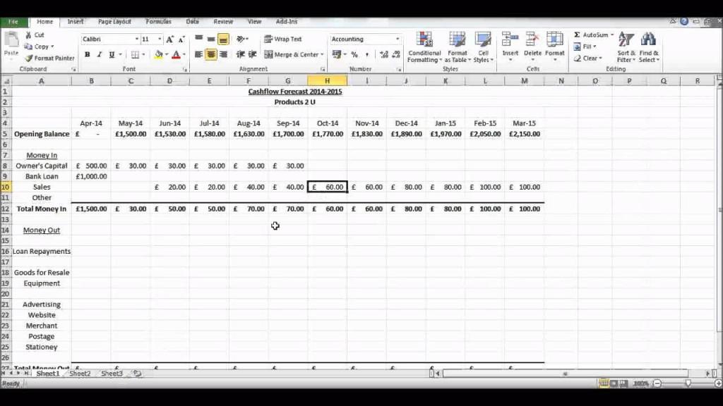 002 Impressive Cash Flow Sample Excel Photo  Spreadsheet Free Forecast TemplateLarge