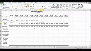 002 Impressive Cash Flow Sample Excel Photo  Spreadsheet Free Forecast Template360