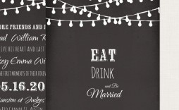 002 Impressive Chalkboard Invitation Template Free High Definition  Download Wedding Editable