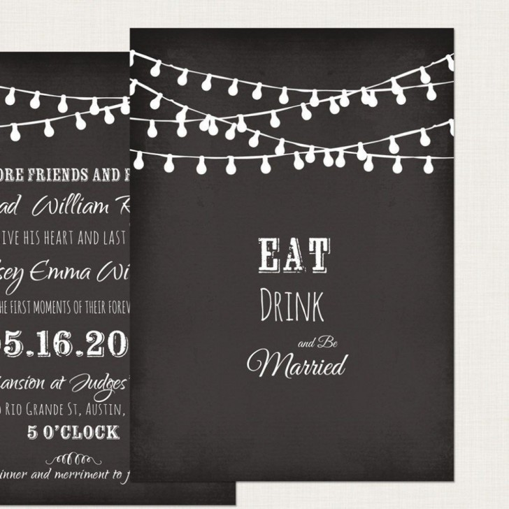 002 Impressive Chalkboard Invitation Template Free High Definition  Download Wedding728