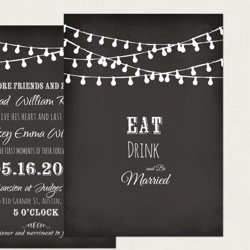 002 Impressive Chalkboard Invitation Template Free High Definition  Download Wedding868