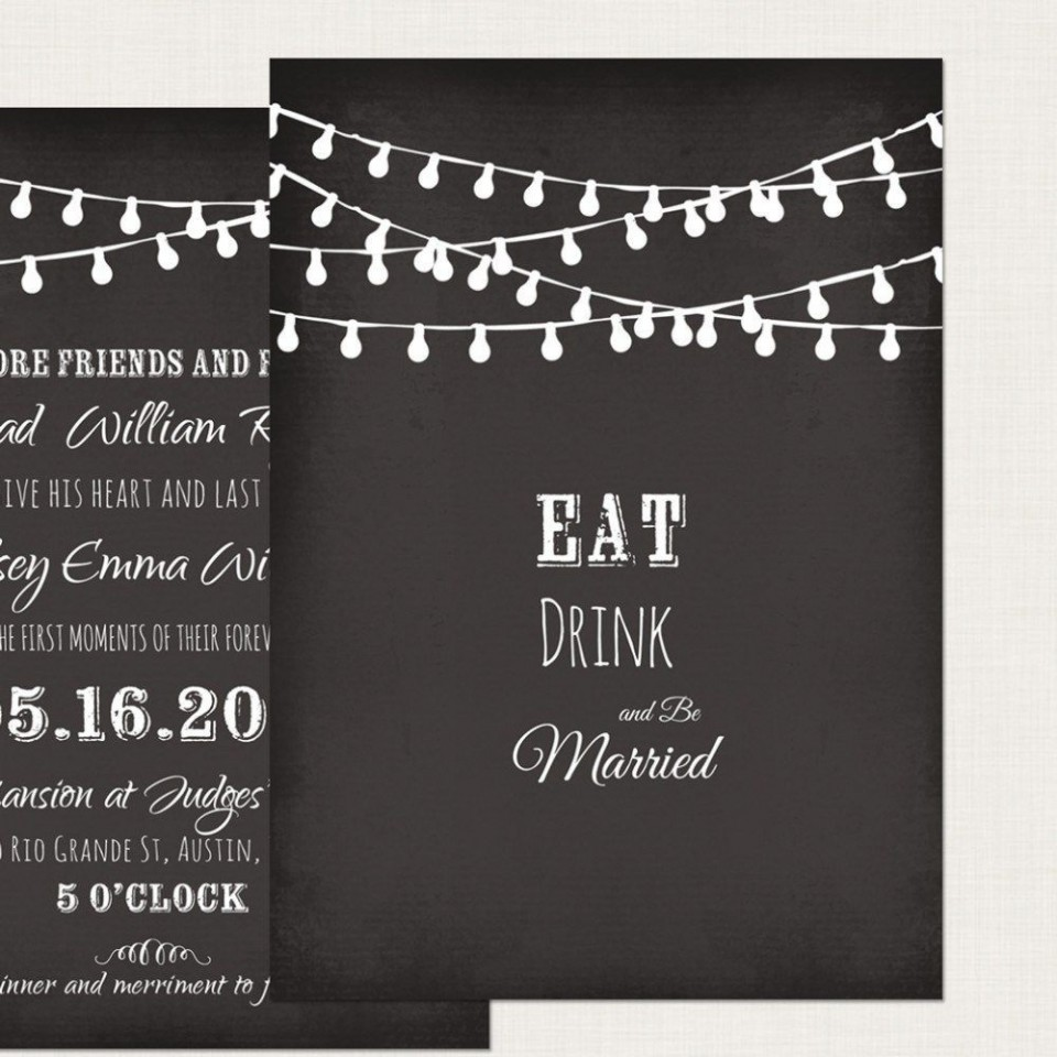 002 Impressive Chalkboard Invitation Template Free High Definition  Download Wedding960