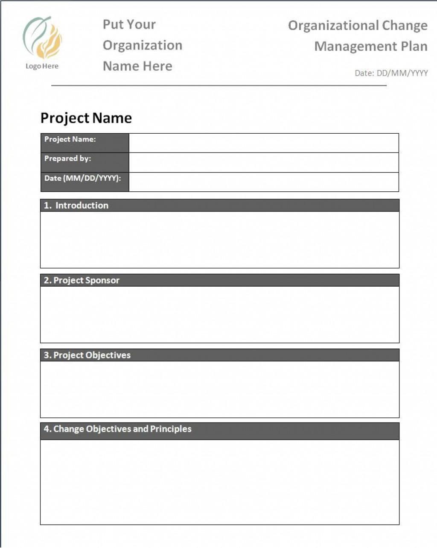 002 Impressive Change Management Plan Template Highest Quality  TemplatesLarge