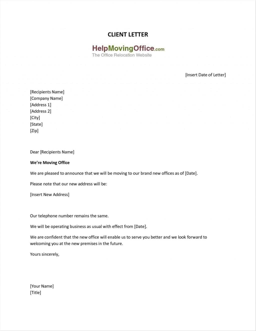 002 Impressive Change Of Addres Letter Template Concept  Templates For Busines FreeLarge