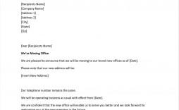 002 Impressive Change Of Addres Letter Template Concept  Templates For Busines Free
