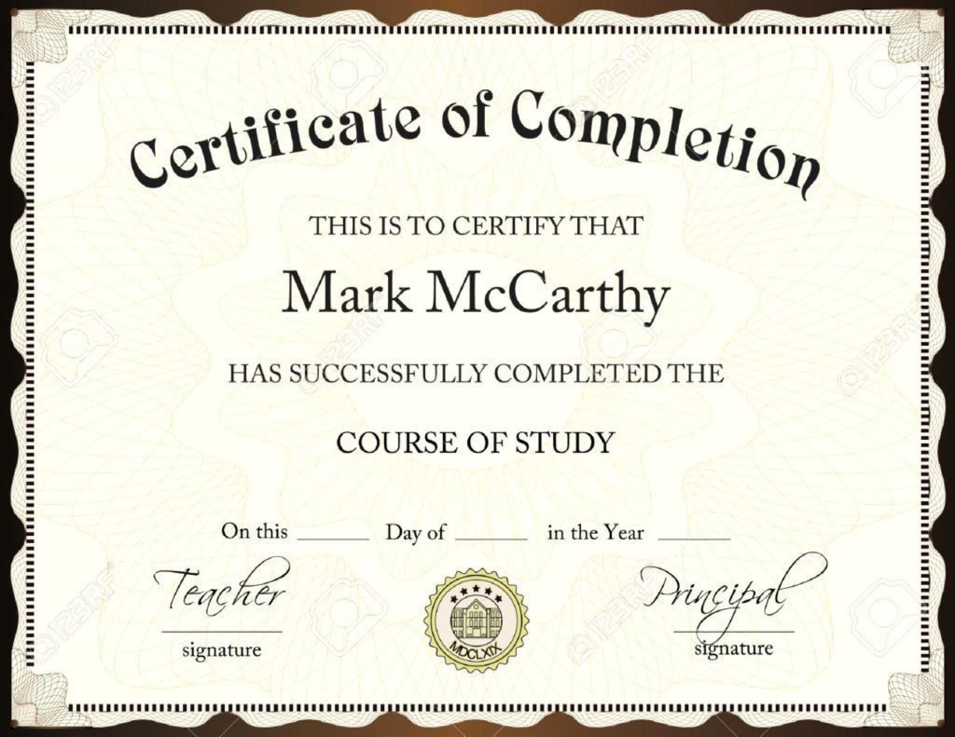 002 Impressive Degree Certificate Template Word Photo 1920